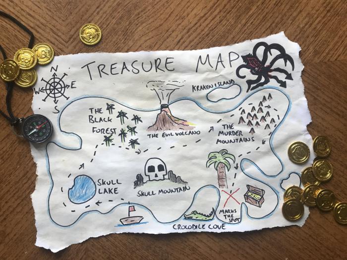 6 Kids' Arts & Crafts ~~ Amazing Treasure Map! ~~